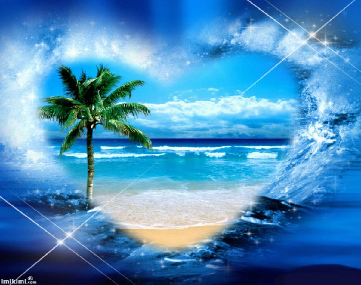 Blue Summer Summer heart romantic ocean pretty blue HD