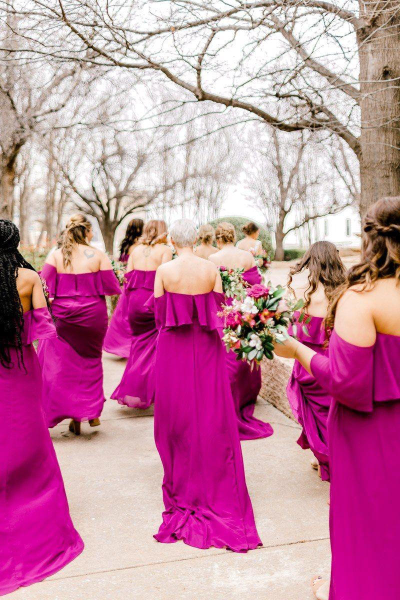 Marley Nyema Married The Big And Bright Magenta Bridesmaid Dresses Hot Pink Bridesmaid Dresses Magenta Wedding [ 1200 x 800 Pixel ]