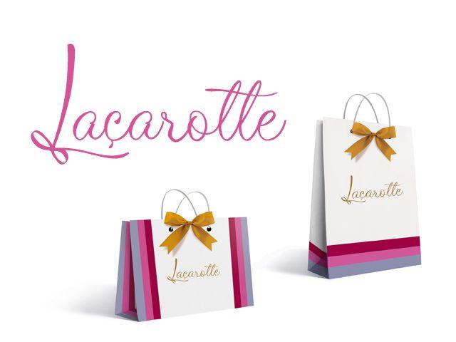Criação de marca e material promocional para a Laçarotte, empresa de roupas femininas.