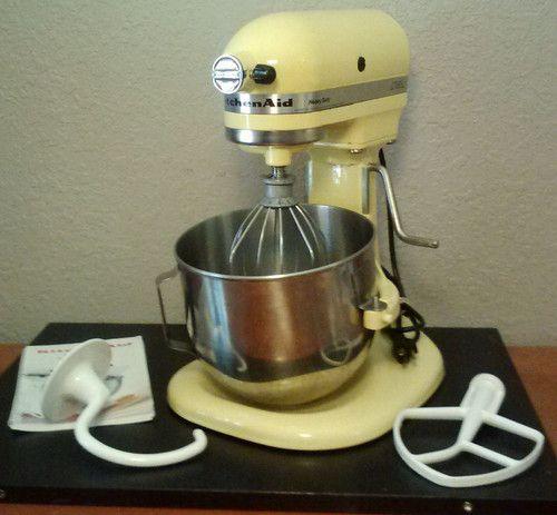 Kitchenaid Heavy Duty 325 Watts Bowl Lift Yellow Stand Mixer