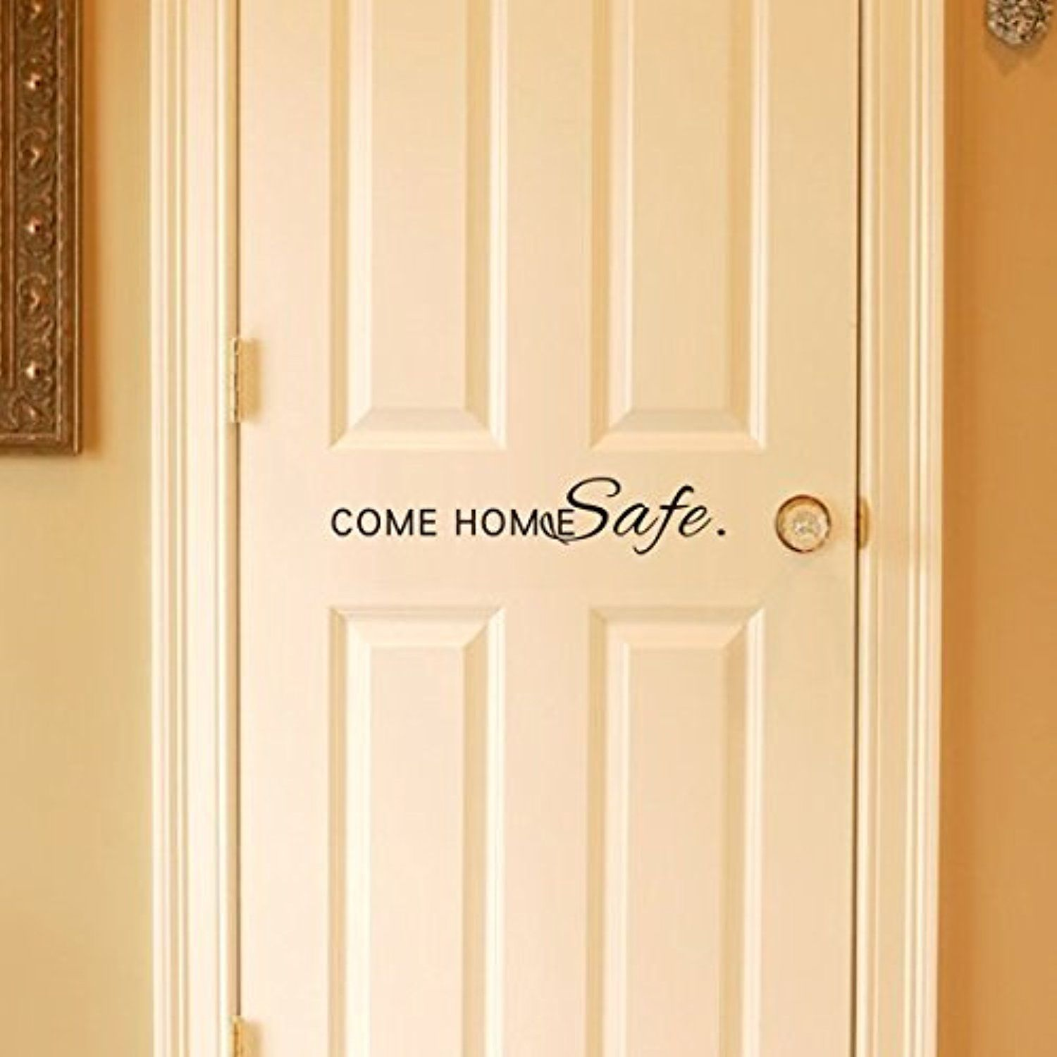 MairGwall Home Decor Family Welcome Saying Vinyl-Come Home Safe ...