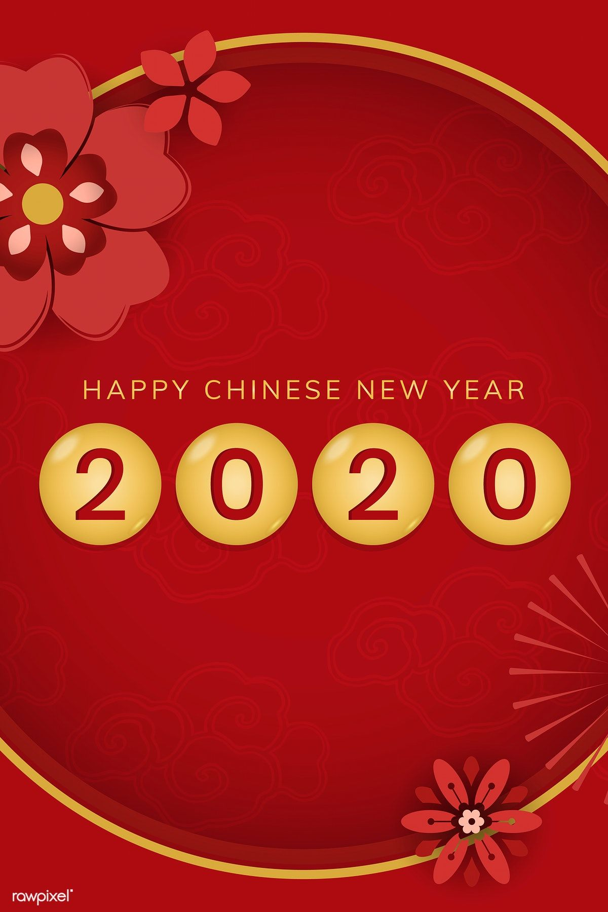 Download premium vector of Happy Chinese New Year 2020