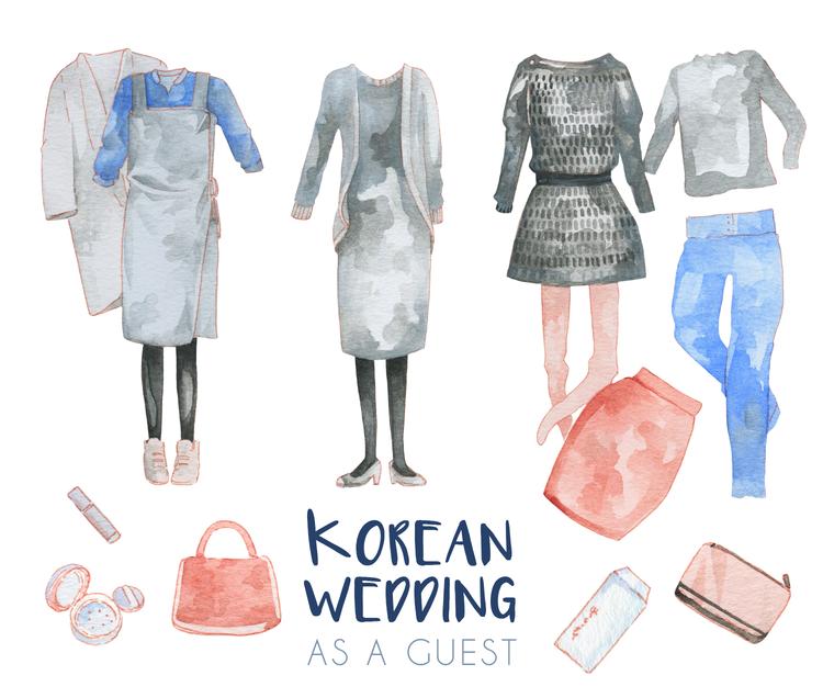 Korean Wedding Guest Outfit & Etiquette - Illustration — evydraws