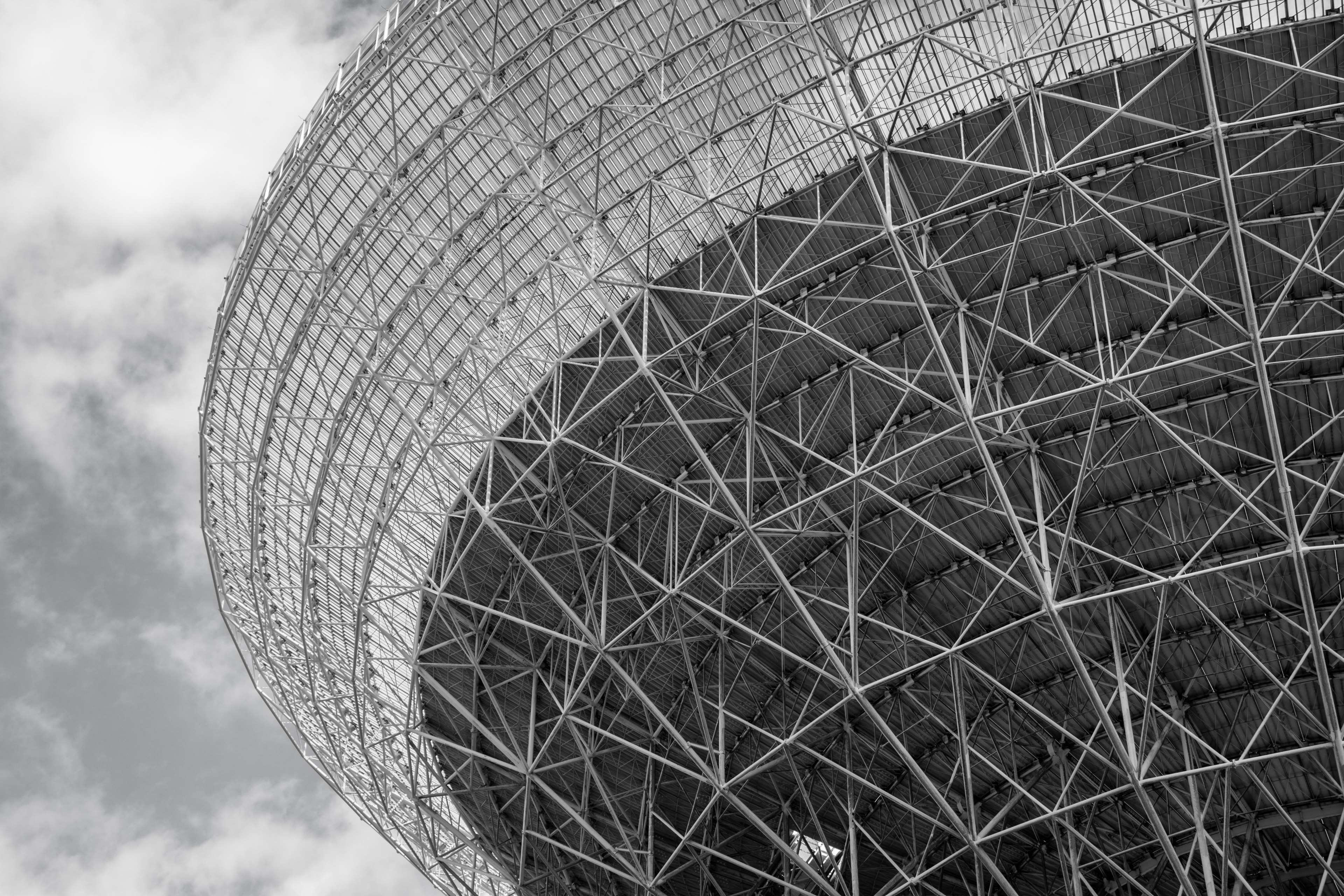 Abstract Antenna Architecture Astronomy Black And