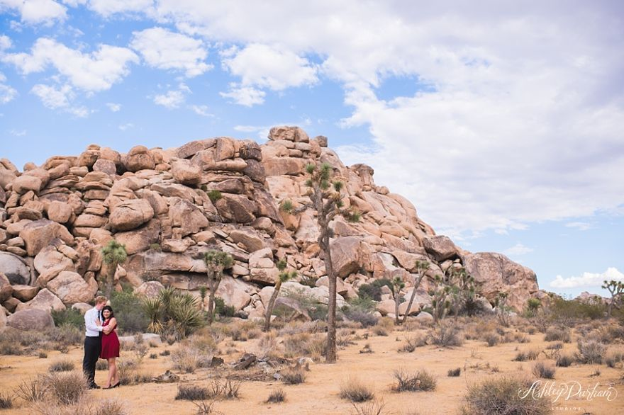 engagement session in joshua tree
