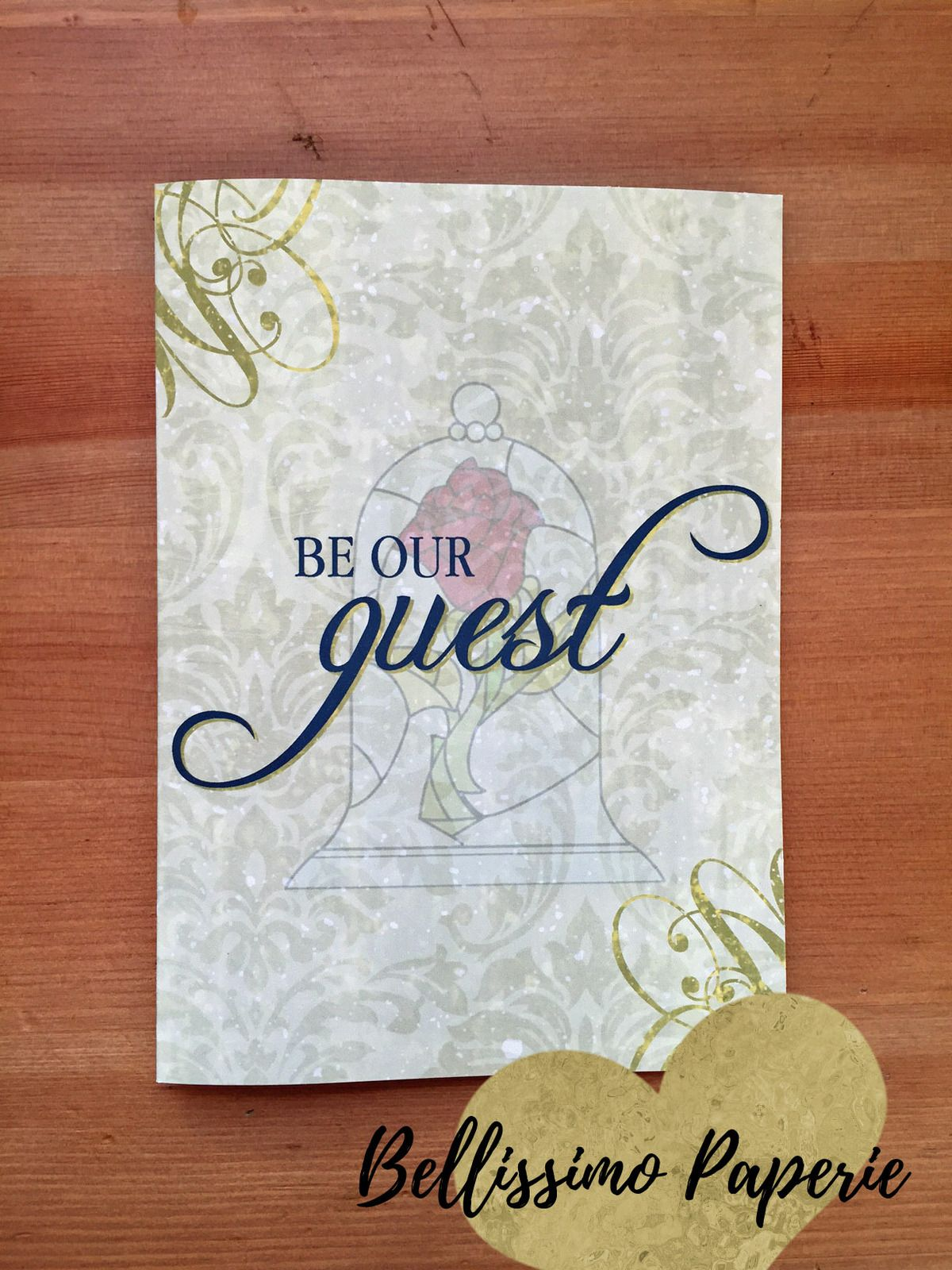 Beauty and the Beast Book Style Invitation Any Occasion