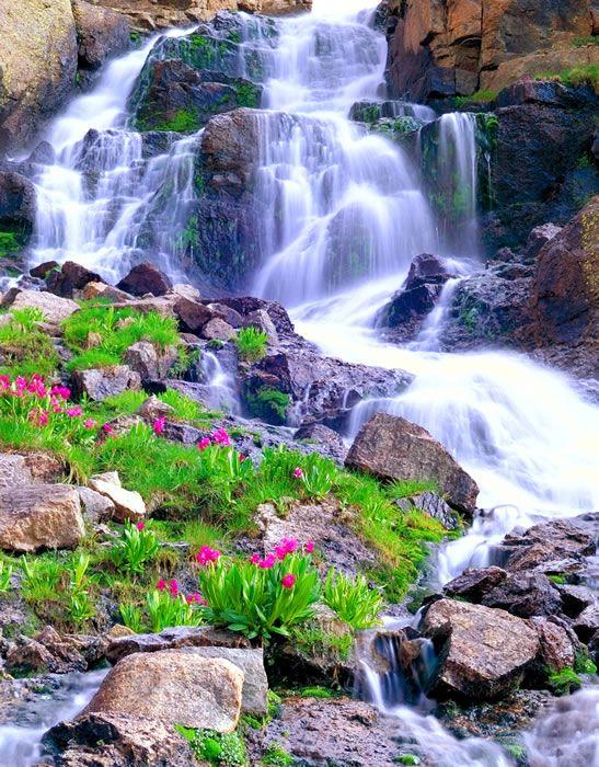 Needle Mountains Waterfall | Weminuche Wilderness, San Juan Mountains