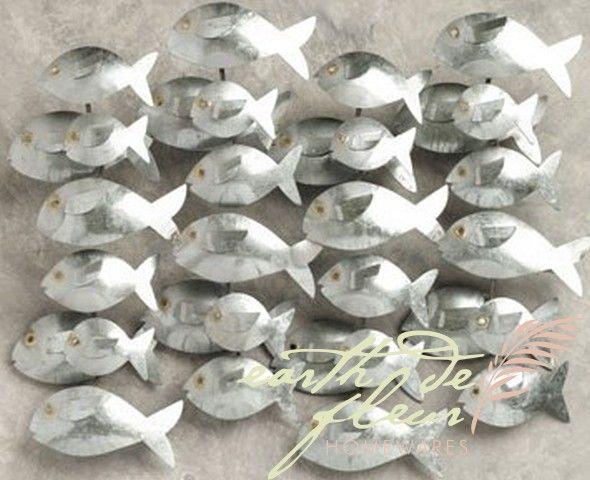 32 Aluminium Metal Fish Wall Decor From Earth Homewares