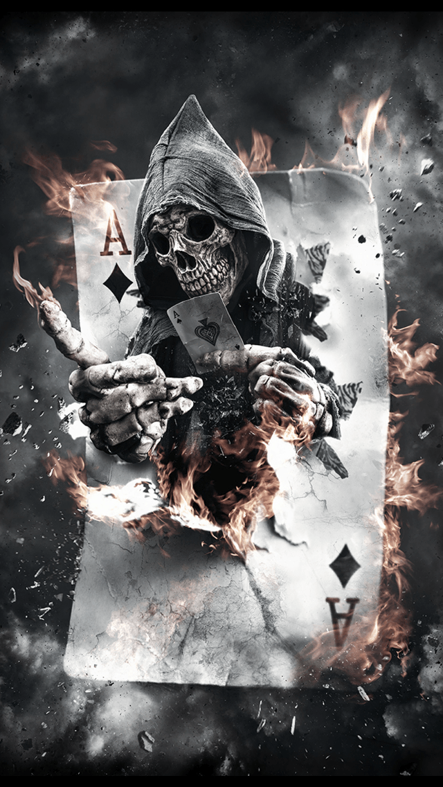 Come and Play Ace Of Spades Skull Monster iPhone 5