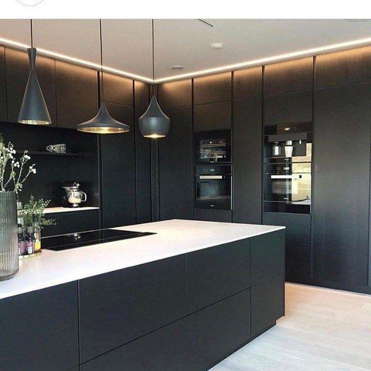 60 Gorgeous Black Kitchen Ideas For Every Decorating Style 26 Kitchendesign Kitchenideas Gentileforda Com Kitchen Room Design Modern Kitchen Design Kitchen Design