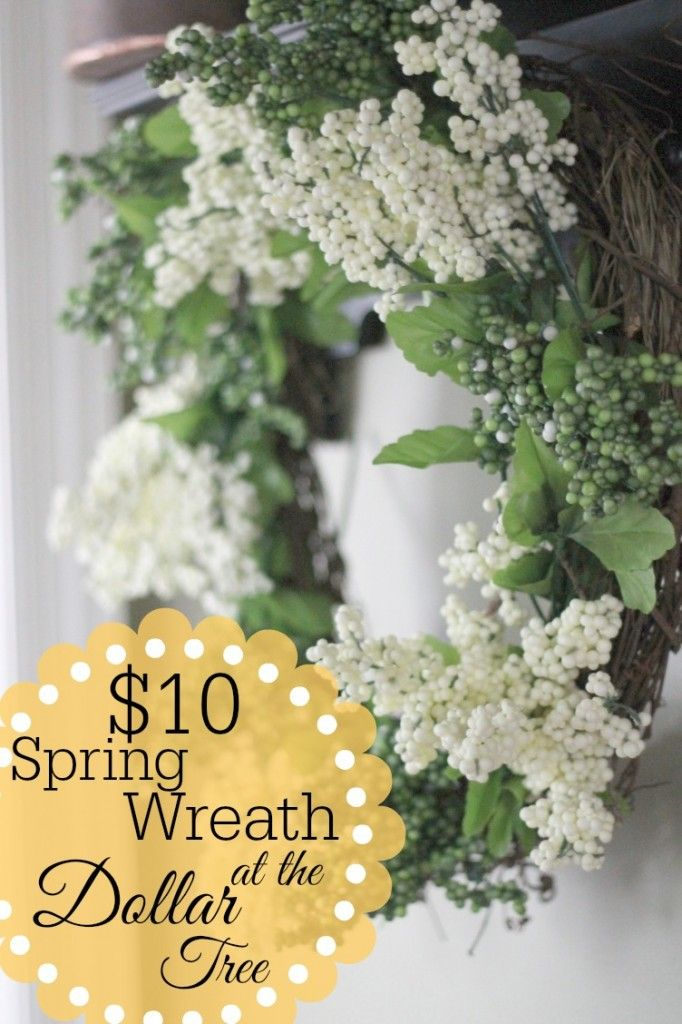 Friday Fluff Up  Dollar Tree Spring Wreath  Wreaths Craft