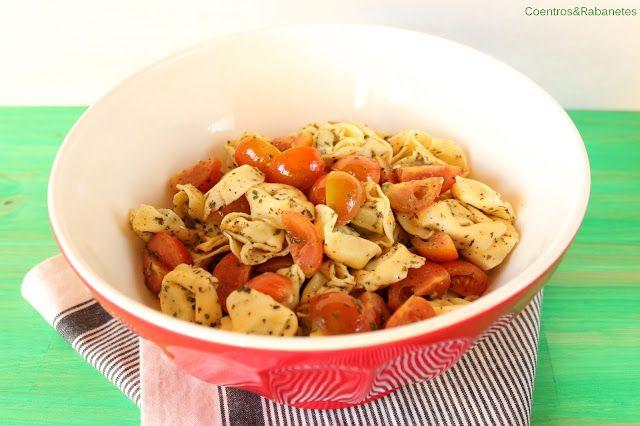 Tortellini and cherry tomato salad