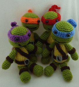 tartaruga ninja de amigurumi | Amigurumi patrones gratis ... | 300x273