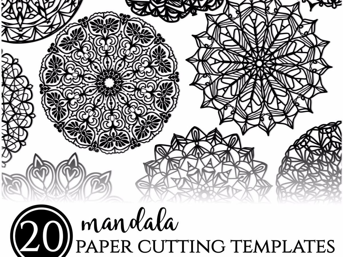 20 mandala paper cutting templates printable paper cutting