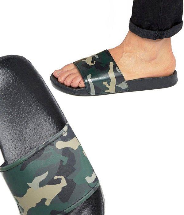 Piscine Homme Tendance De Claquettes Camouflage Noir Imprimé 1TFK3ulJc