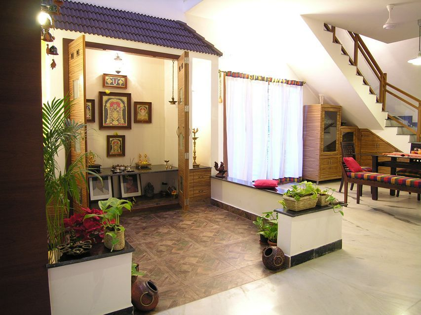 South indian pooja room designs google search pooja for Indian traditional interior design ideas