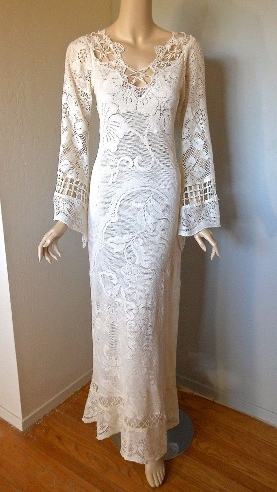 Upcycled Lace Celtic Wedding Dress Victorian Angel By Museclothing