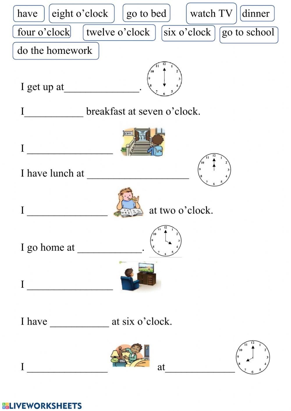 Daily Routines Interactive And Downloadable Worksheet You Can Do The Exercises Online Or Dow Daily Routine Worksheet Learning English For Kids Time Worksheets