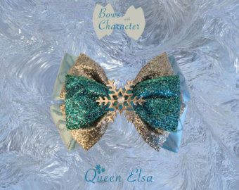 The Elsa Inspired Bow by FangirlCreation on Etsy