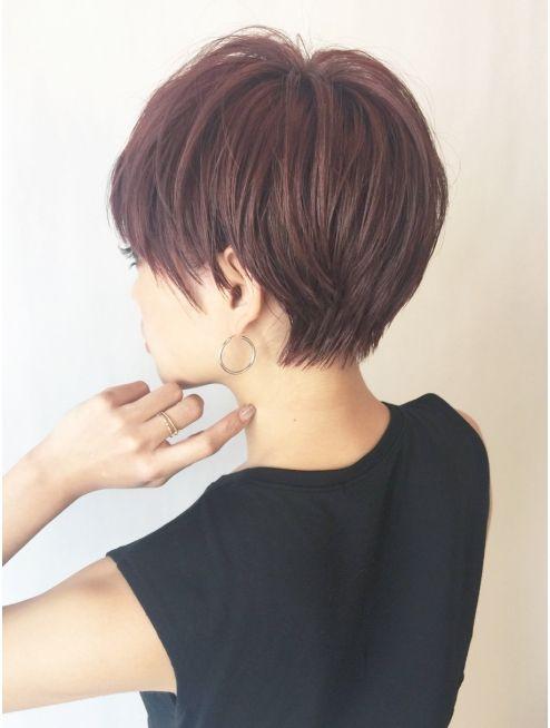 秋カラーの定番 ハイトーンラベンダーピンク のヘアカラーが可愛い