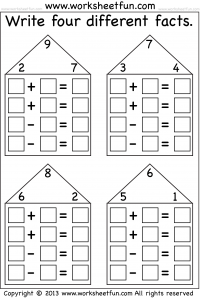 Numbers Fact Family Free Printable Worksheets \u2013 Worksheetfun Printable Math Worksheets Grade 1 Numbers Fact Family Free Printable Worksheets \u2013 Worksheetfun