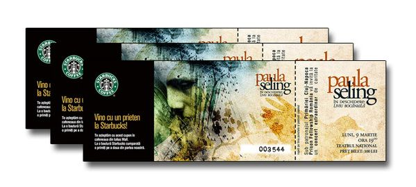 Paula Seling Concert [poster+tickets+wallpaper] By David Cristian, Via  Behance  Concert Ticket Layout
