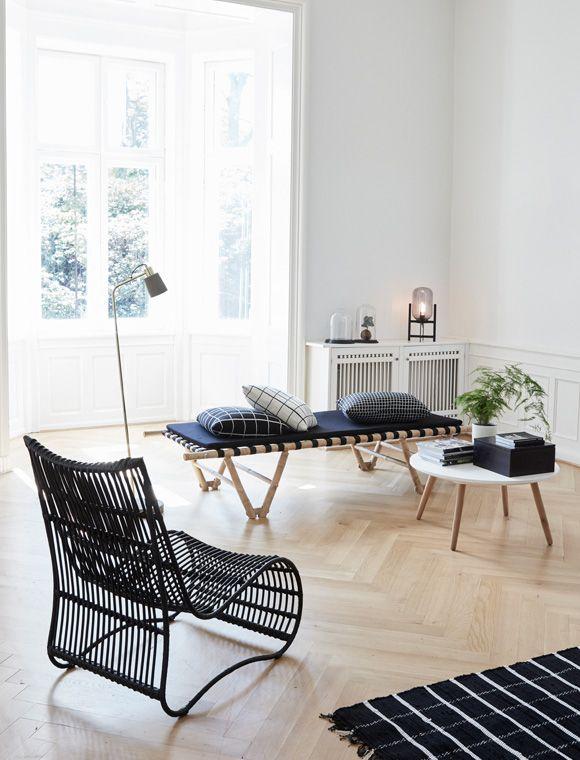 Rattanliege von HÜBSCH Interior | Wohnzimmer | Pinterest | Hübsch ...