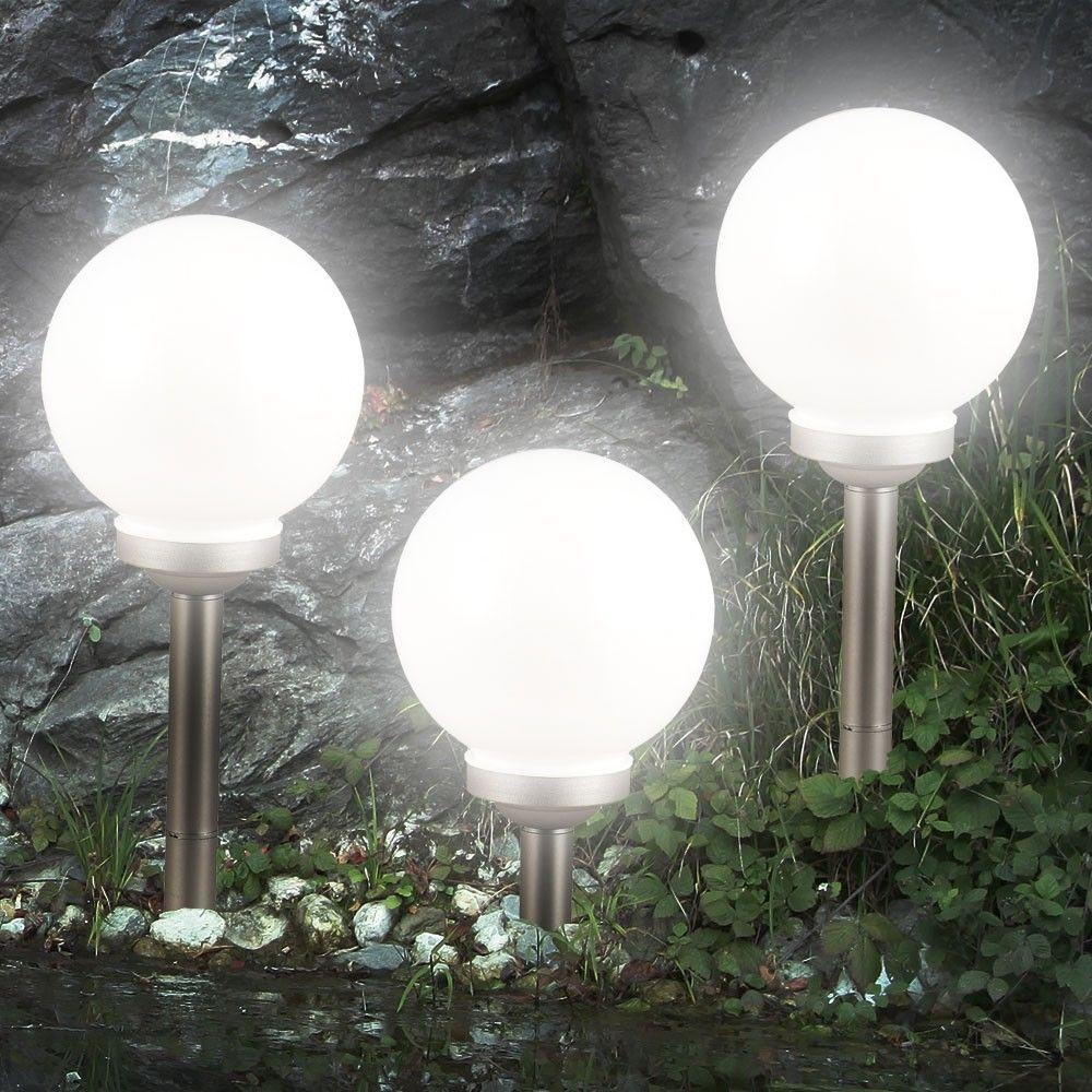 3er Set Led Solarleuchte Kugel Garten Beleuchtung Aussen Leucht Lampe Nacht Lichtsparen25 Com Sparen25 D Solarleuchten Gartengestaltung Ideen Led Solarleuchte