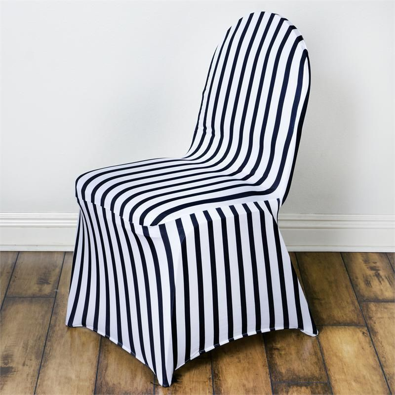 1 X Black And White Striped Spandex Stretchable Chair Cover Wedding Decoration Craftsnfavors Chair Covers Wedding Banquet Chair Covers Spandex Chair Covers