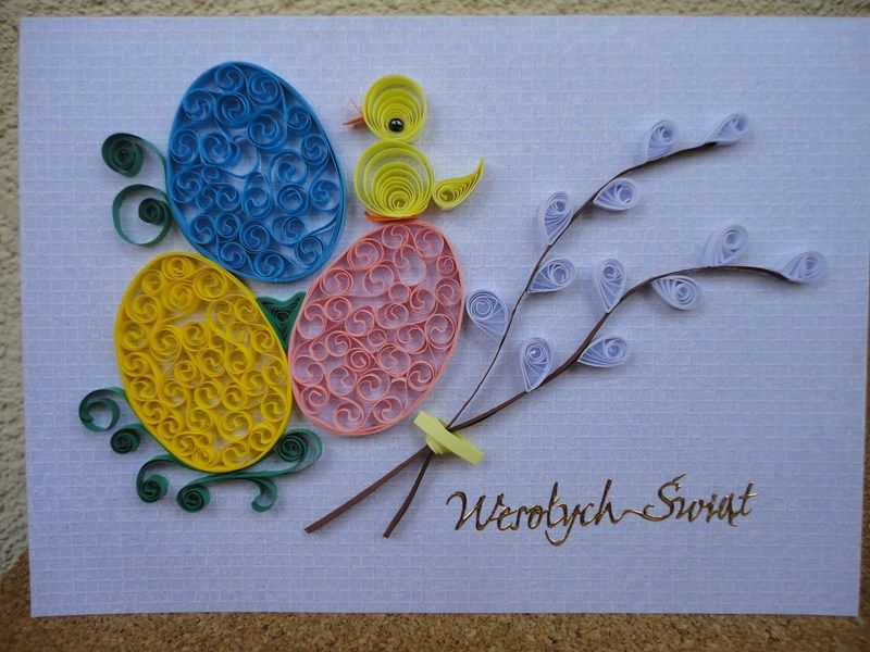Kartki Wielkanoc Paper Quilling Cards Quilling Designs Quilling Cards