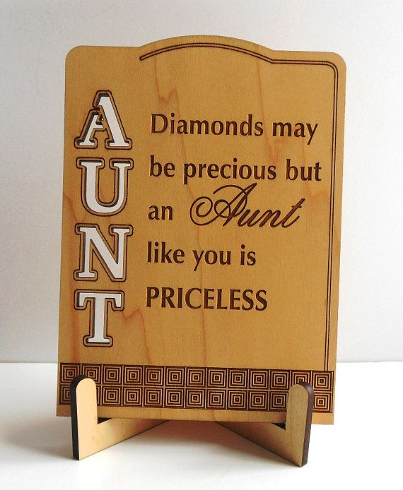 Aunt Keepsake Tabletop Sign Plaque Greeting Card Appreciation Gift Special Postcard With StandWood