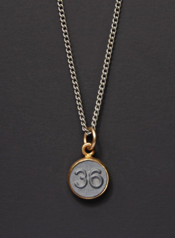 51a79a23e44c Number 36 Necklace   Mens Necklace   Numerology Personalized Men Jewelry    Man Jewelry   Number THIR
