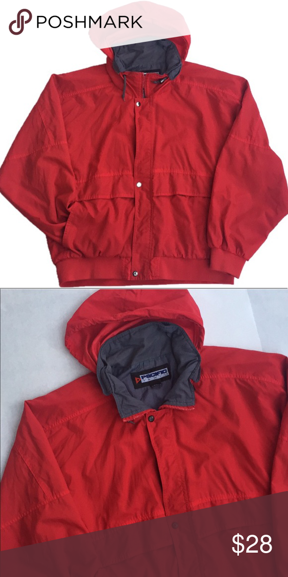 02ddf00b1b7 Red Pacific Trail Windbreaker Warm comfy lightweight red windbreaker.  Missing zipper but can button up to close Pacific Trail Jackets & Coats  Performance ...