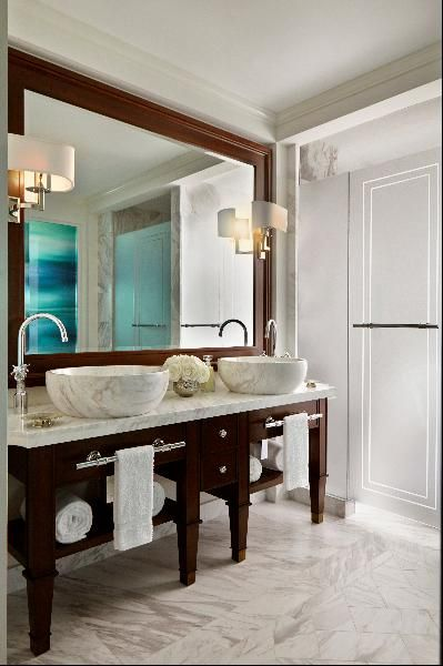 Farm-To-Table Philosophy Rules At Rosewood's Caribbean Hotels: Marble sinks, Rosewood at Baha Mar