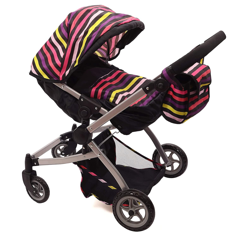 Babyboo Twin Doll Stroller Foldable Double Doll Pram