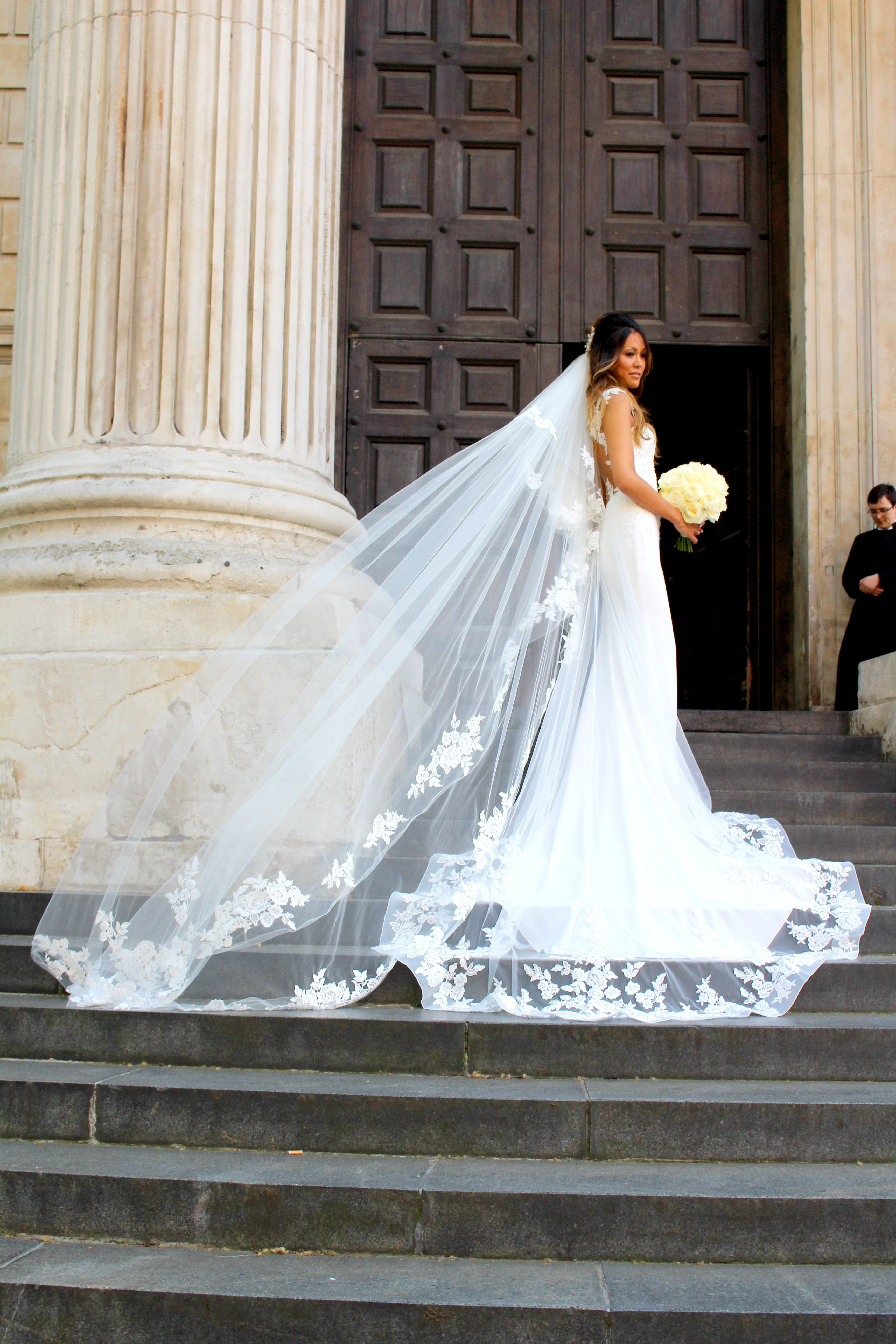 real Bride - Kimberely - Wearing Dando London wedding dress with ...