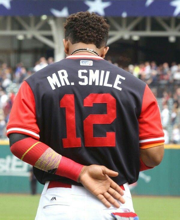 cd232ae8ebb Cleveland Indians  Mr. Smile  Francisco Lindor