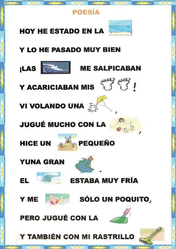 Poemas y rimas infantiles del verano para niños   Verano   Pinterest ...