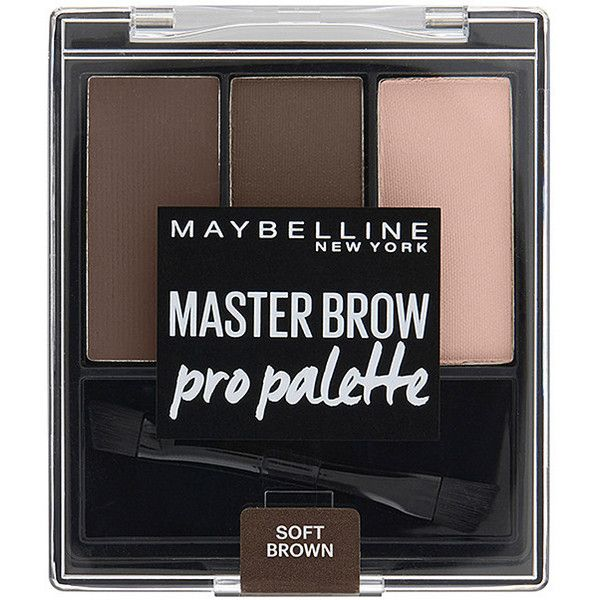 Maybelline Master Brow Pro Palette Soft Brown Target Australia (665 INR) ❤  liked on c87bc571c4