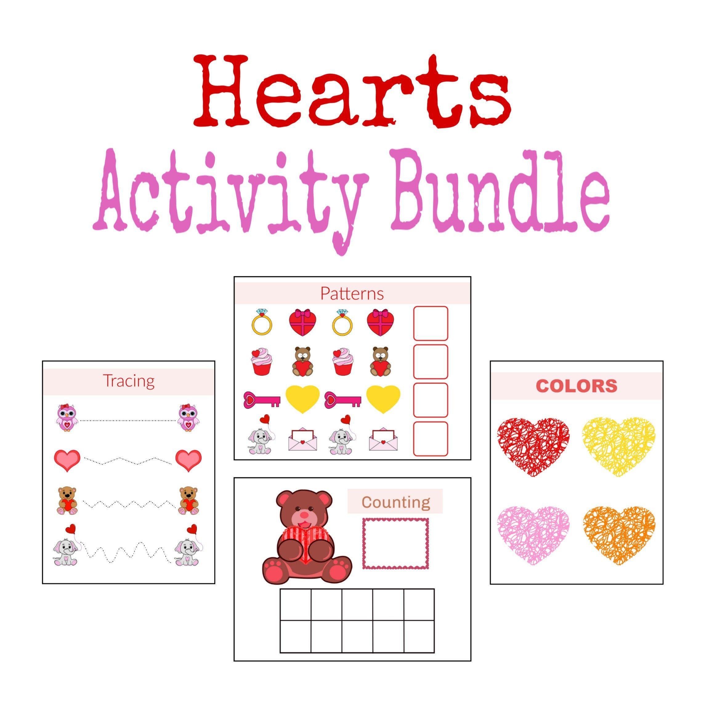 Hearts Activities File Folder Games Printable Worksheets