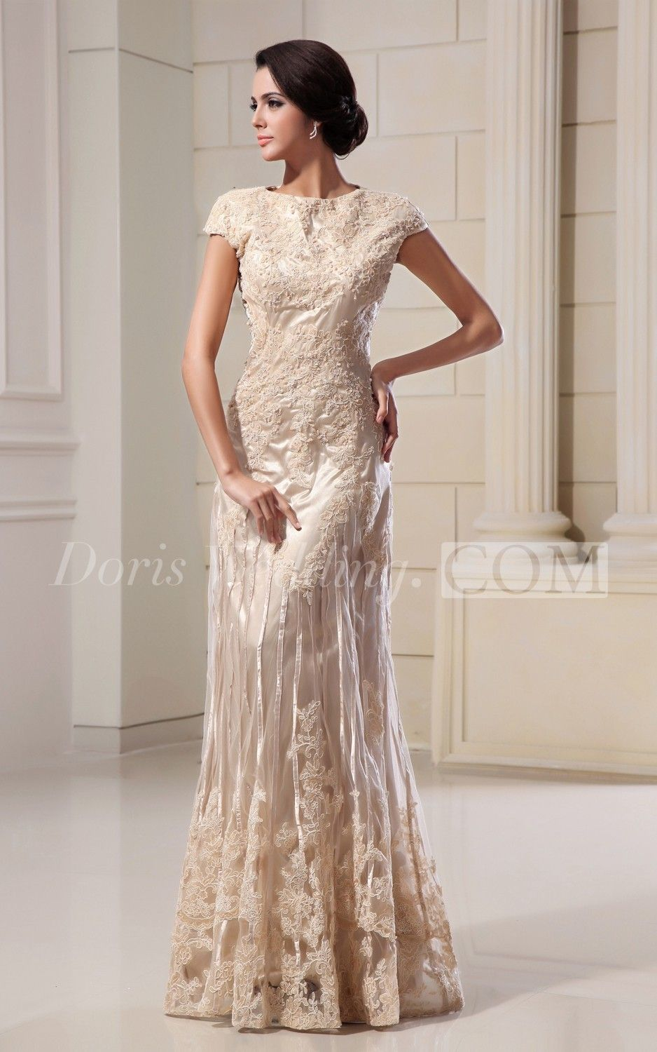 High neck sheath floor length dress with lace appliques garden high neck sheath floor length dress with lace appliques ombrellifo Image collections