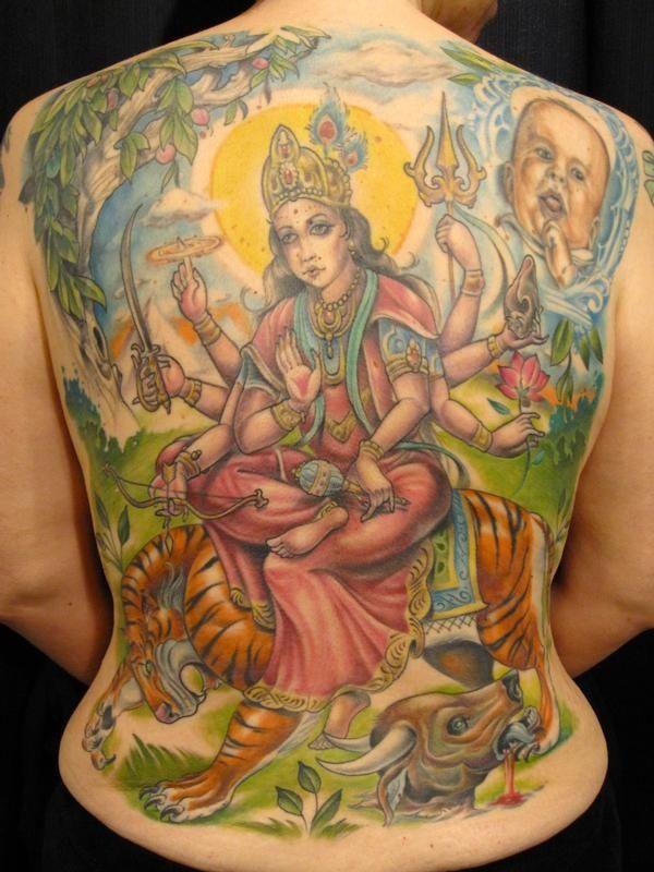 Durga Tattoo Goddess Durga | Tiger ...
