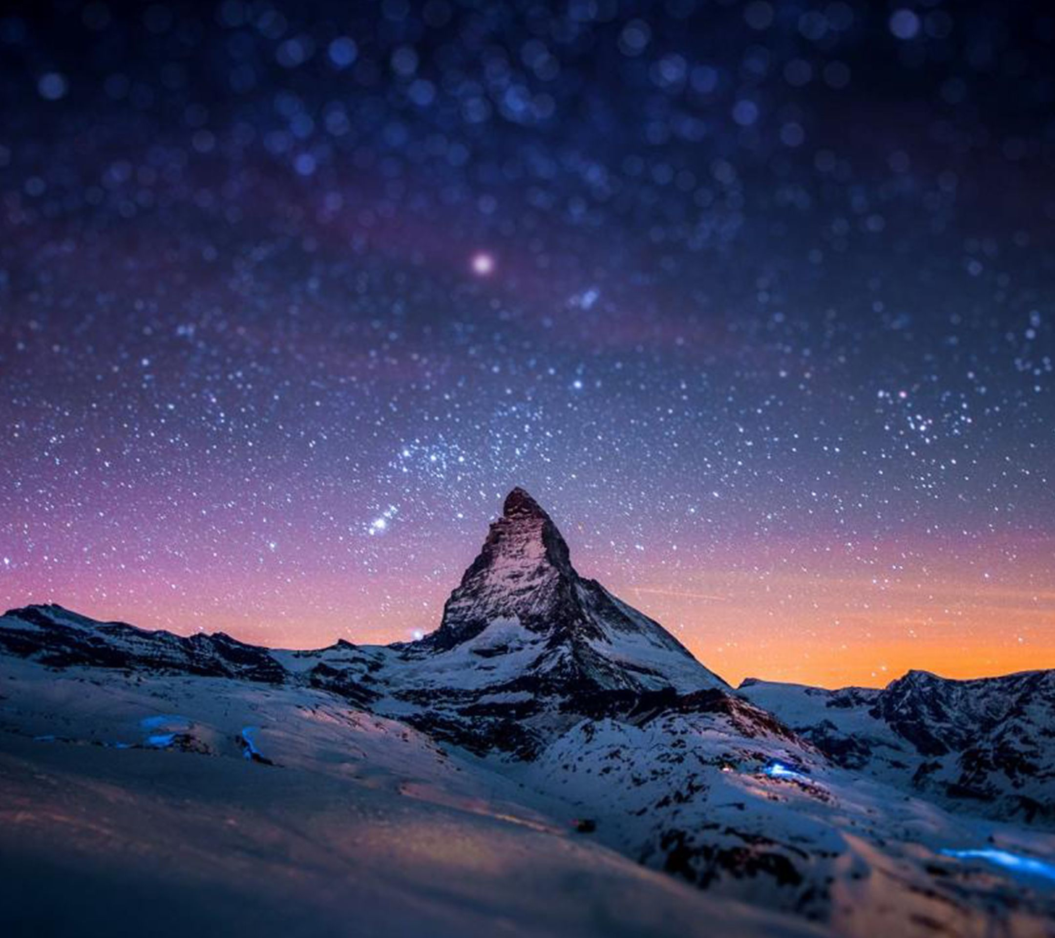 Purple Mountain Stars. Tap To See More Starry Night Sky