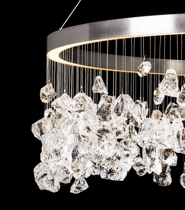 A daringly creative and imaginative piece the monarch pendant is handmade from recycled glass shards original lighting designs by timothy oulton