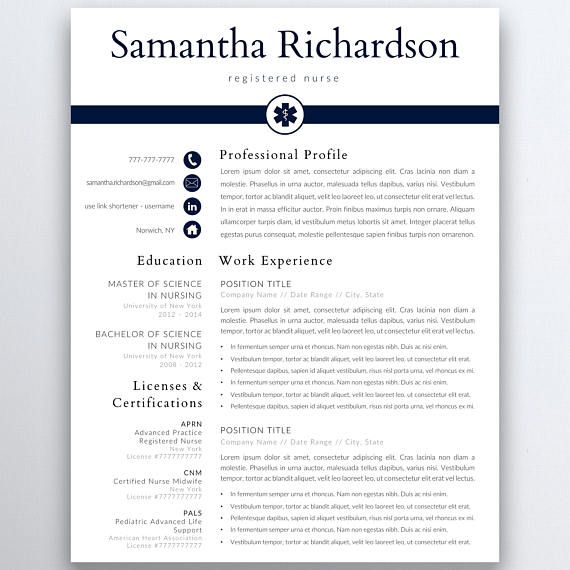 This Nurse Resume Template Will Enable You To Create Your Own
