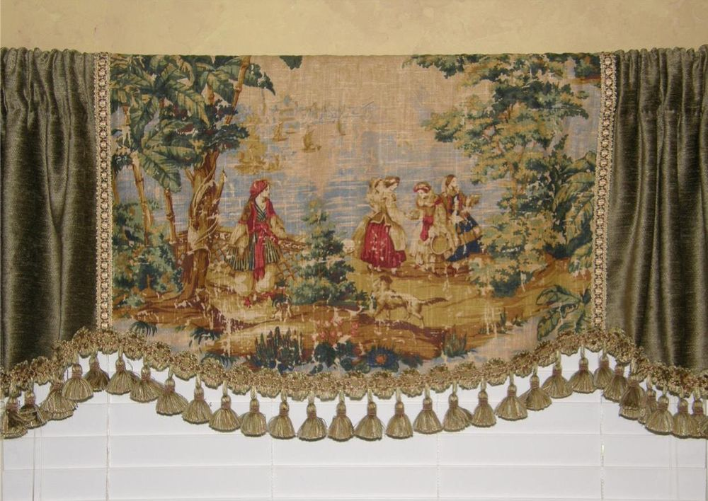 CUSTOM Made VALANCE Covington Bosporus Toile Fabric ...