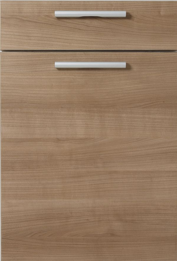 Rimini Textured Horizontal Wood Grain Slab Style Kitchen