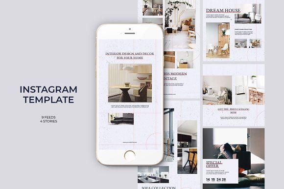 Photo of Interior Instagram Templates by Azruca on Creative Market