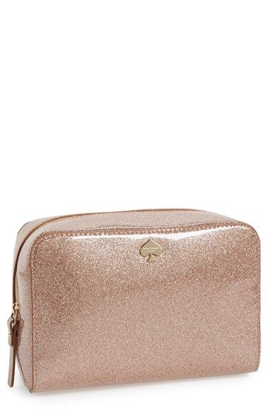 Kate Spade New York Glitter Bug Large Aspen Bag In Rose Gold Perfect Gift For Your Bridesmaids