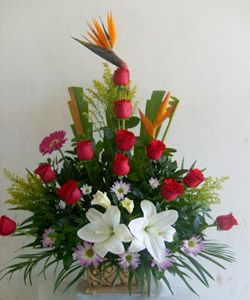 Arreglos para toda ocasion arranjos florais pinterest for Jardin rosa alcoy